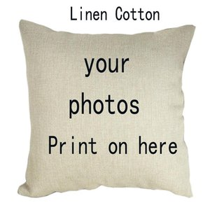 45*45cm Custom Sofa Pillowcase Picture Here Print Pet Wedding Personal Life Photos Customize Gift Home Cushion Pillow Cover
