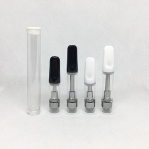 Ceramic Tips Vape Cartridges 0.5ml 1ml Ceramic Coil Atomizers G2 th205 Vapor Carts 510 Thread thick Oil empty vape pen cartridge Vaporizers