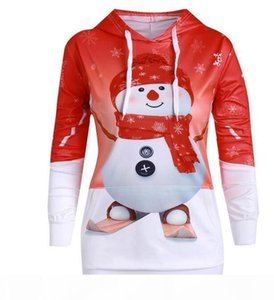 Sexy Fashion Womens Long Sleeve Christmas Snowman Pullover Hoody Sports Outdoor Character Hoodies & Sweatshirts Gift Size S-5XL