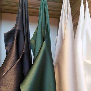 WWNN Harness Silk Tops 2021 Primavera de alta calidad Summer Casual 7 colores Camisa sin mangas Blusa Blusa Blusas