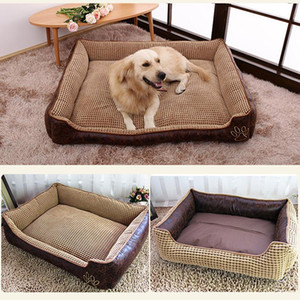 Winter Warm Dog Bed for Small Large Dogs Cozy Reversible Pet Cat Puppy Big Dog Beds Sofas Chihuahua House Kennel Pets Products