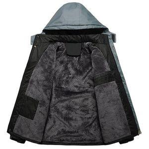 Plus Velvet Thicken Jackets Mens Outdoors Waterproof Windbreaker Hooded Thick Warm Parkas Men Winter Mountaineering Overcoats