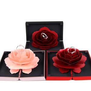 وردة حلوة زهرة مربع الزفاف خواتم الخطبة مربع مفاجأة مجوهرات حامل تخزين الزفاف الزواج المخملية هدية عيد الحب