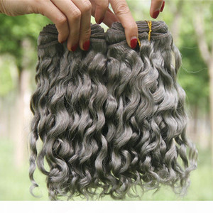 Sliver Grey Grey Wave Than Uman Hair Extensions 3pcs Lotto Deep Deep Deep Capelli ondulato Bundles Grey Brasilian Virgin Capelli Weaves