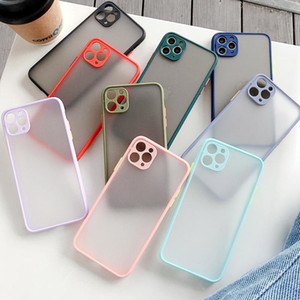 Skin Camera Lens Protection Transparent Forsted Matte Hybrid Case for iPhone 12 Mini 11 Pro Max XR XS X 8 7 6