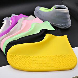 Famtiyaa Водонепроницаемая обувь охватывает многоразовые защитные защитные галоши силиконовые дождевые сапоги женские оплошки женские ботинки для обуви летом 2020 Q1216