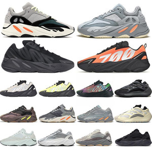 New 700 v2 Kanye West 3M Reflective Orange Bone Wave Runner Men Women Running Shoes Sneakers Solid Grey Analog Tael Carbon Blue Shoes