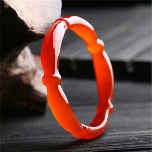 Bracciale rosso naturale braccialetto agata specie figlio ghiaccio bambù giada midollo giada
