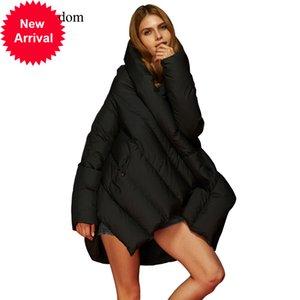 Eva Liberté hiver Européenne et Américaine Mode Grande taille Manteau Cloak Lâche Design original Veste à capuche pour femmes