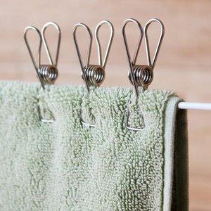 Clips de vêtements en acier inoxydable Chaussettes Photos Hang rack Pièces Vêtements portables Clips d'acier inoxydable EWA3129