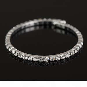 K Free Shipping New Women &#039 ;S Girl &#039 ;S Fashion Sliver Filled Clear Austrian Crystal Bracelets &Bangles Gift Jewelry B044