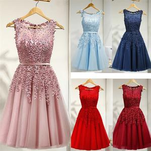 Es ist Yiiya Brautjungfer Kleid für Mädchen Plus Größe Kurze Rosa Blue Party Kleider Frauen Vestido Madrinha LX073 Y200109