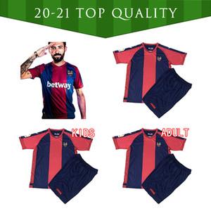 Novo 2020 2021 Levante UD Futebol Jersey 2020 2021 Ventiladores Versão Rochina Camisetas de Futbol Levante A.J.Morales Camisas de futebol uniforme