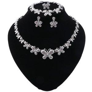 Women Dubai Jewelry Sets Luxury Bridal Nigerian Wedding African Beads Jewelry Set Costume Butterfly Shape Design