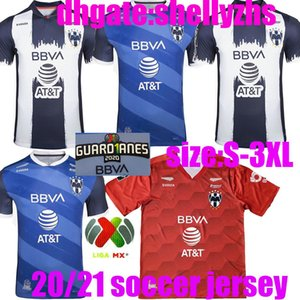 대형 크기 : XXXL 멕시코 클럽 Rayados de Monterrey 2020 남성 + 키즈 키트 골키퍼 축구 유니폼 D.Pabon R.Funes Mori Camiseta de Futbol Shirts