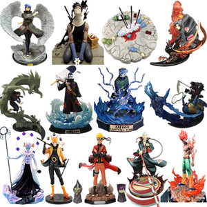 15-32cm Anime Naruto Figure Kakashi Obito Itachi Zabuza Tobi MightGuy Hashirama Hoshigaki PVC Action Model Collectible kids Toys Q1123