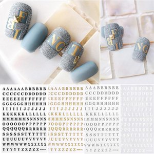 1Pc English Alphabet Number 3D Back Glue Nail Decal Nail Sticker Tool Art Decorations DIY Charm Foils