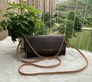 Ücretsiz kargo! Yükseklik kaliteli hakiki deri çanta kadın omuz çantası 40718 Favori çanta mm gerçek deri 40717