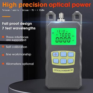 COMPTYCO high-precision AUA-70A Optical Power Meter -70dBm~+10dBm Fiber Optical Cable Tester SC FC 2 kinds interface Connector