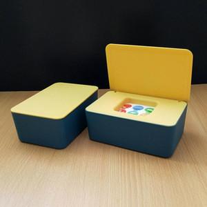 Tissue Box Storage Case Baby Wet Wipe Dispenser Flip Cover Dustproof Storage Box New 2021