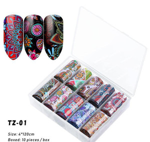 Na063 10 Roller Starry Sky Nail Foils Holographic Transfer Water Decals Nail Art Stickers 4*120cm Diy Image Nail T jllGGF xhhair
