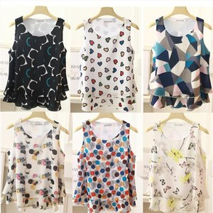 BanerDanni Womens Bluse Sommer Mode Trendy Marke Multicolor Druck Sleeveless Casual Chiffon Shirt Frauen Tops Drop Shipping