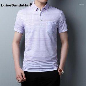 Luisesandyhan 2020 primavera estate manica corta t shirt uomo slim fit business t-shirt casual da uomo vestiti in cotone tee shirt homme1