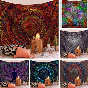 Mandala Macrame Tapestry Wall Hanging Sun Moon Hippie Farmhouse Carpets Dorm Home Corridor Yoga Bedroom Living Room Mural Decoration