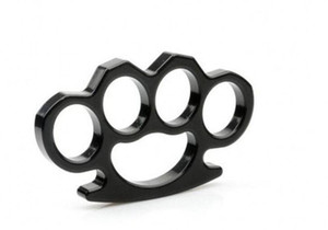 Silver And Black Thin Steel Brass Knuckle Dusters,self Defense Personal Security Women's And Men's Se jllRPU dhzlstore