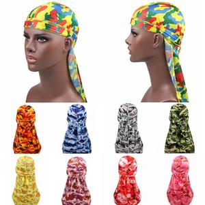 Men's Silk Durags Bandanas Turban Hay Wigs Doo Men Durag Biker Headwear Headband Extra Long Tail Headwrap Hair Accessories