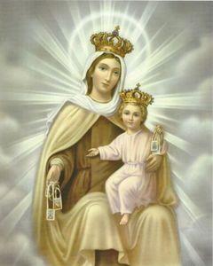 Katholische Gemälde Unsere Frau von Mount Carmel Kind Jesus mit Scapular Wohnkultur Ölgemälde auf Leinwand Wandkunst Leinwandbilder 201121