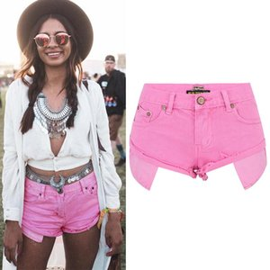 Denim Shorts Jeans Sexy Mini Super Short Trousers Female Summer Holiday Outfits Street Wear Plus Size Women Clothing Brand Pink