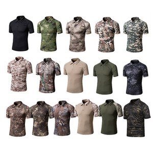 Outdoor Woodland Hunting Shooting Shirt Battle Dress Uniform Tactical BDU Army Combat Coat Quick Dry Camouflage T-Shirt NO05-108