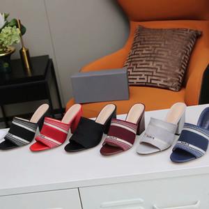 Nuevo Top Paris Block Block Sandalias Sandalias Damas Tacones Altos Casual Zapatillas Cuero Rayas Scoffs Sandalias Pescador Zapatillas Estilista Zapatos