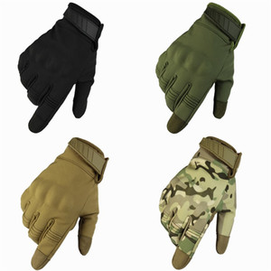 Nylon Tactics Camouflage Gloves Solid Color Men Male Glove All Finger Waterproof Mittens Winter Warm Outdoor Sports Accessories 28tf N2