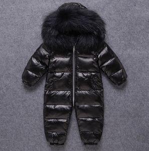 Ins Baby impermeabile crowsuits per bambini con cappuccio con cappuccio per bambini bambini addensanti antivento antivento tuta calda cappotto A5443