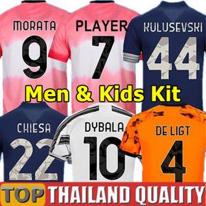 20 21 Juve Dybala Soccer Jerseys 2020 الجنس البشري HRFC 4th كرة القدم قميص دي Ligt Ramsey 2021 رابع رابع أطفال