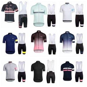 Nouveau Jersey Vélo Jersey Set Ropa de Ciclismo Summer Rapha à manches courtes VTT VTT Vêtements de Vêtements Vêtements Sports Uniformes Suit K072901