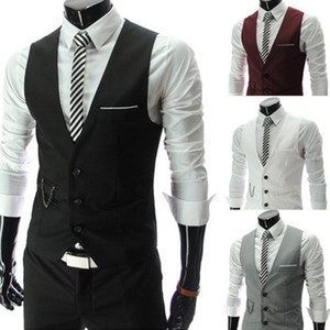 New Arrival Dress Vests For Men Slim Fit Mens Suit Vest Male Waistcoat Gilet Homme Casual Sleeveless Formal Business Jacket1