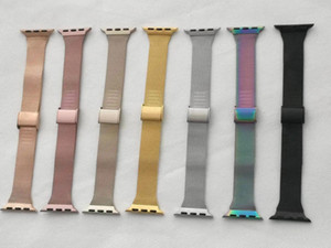 New Milanese Loop Straps for Apple Watch 1 2 3 4 5 6 SE Band for Iwatch 40mm 44mm Stainless Steel Strap Metal Watch Connector