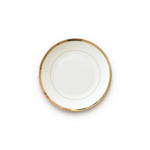 wholesale fine ceramic nordic plate real gold plate set porcelain luxury dinnerware wedding steak dinner plate