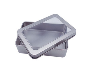10.7*7*3cm Open Window Metal Storage Cases, Tin Boxes Steel display packaging can Free Shipping SN3527