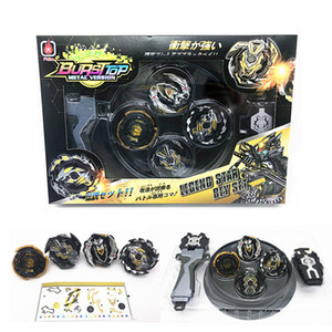 New 4pcs set Beyblade arena stadium Metal Fusion 4D Battle Metal Top Fury Masters launcher grip children christmas toy Q1122
