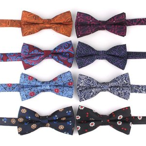 New Floral Men Bow Tie Claret Classic Bowtie For Men Flower Bow Ties For Business Wedding Butterfly Cravats Adult Suits Bowties