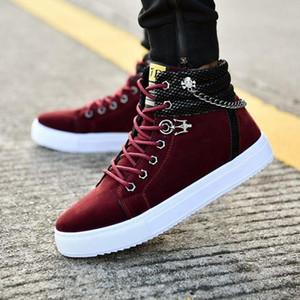 2020 hiver Nouveaux bottes de neige pour hommes High pour aider chaleureuse casual Martin Bottes de chaussures de coton Velvet