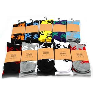 Мужчины носки рождественские уплотнительные хлопчатобумажные женские носки скейтборд хипхоп клен листьев высококачественные спортивные носки