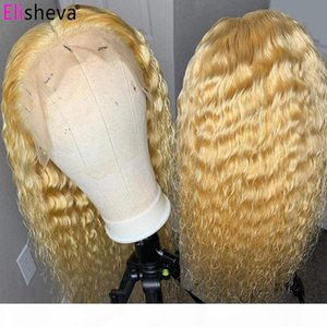 613 Lace Front Wig Human Hair 4x4 613 Closure Wig 13x4 Water Wave Lace Front Honey Blonde Wigs Brazilian Remy 150