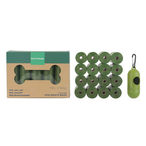 Dog Poop Bag 16 Rolls Biodegradable Pet Waste Bags with Dispenser Eco-Friendly Leak Proof Garbage Bag JK2012XB