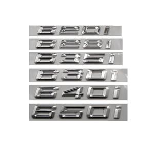 Chrome Silver ABS Number Letters Word Car Trunk Badge Emblem Emblems for BMW 6 Series 620i 628i 635i 630i 640i 650i 660i