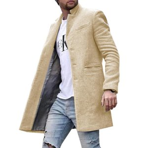 Winter Coat Men Jacket Solid Straight England Style Fashion Mens Clothing Casual Coat Male Jacket Wool Blends